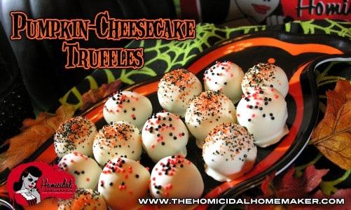 Pumpkin-Cheesecake Truffles | The Homicidal Homemaker™