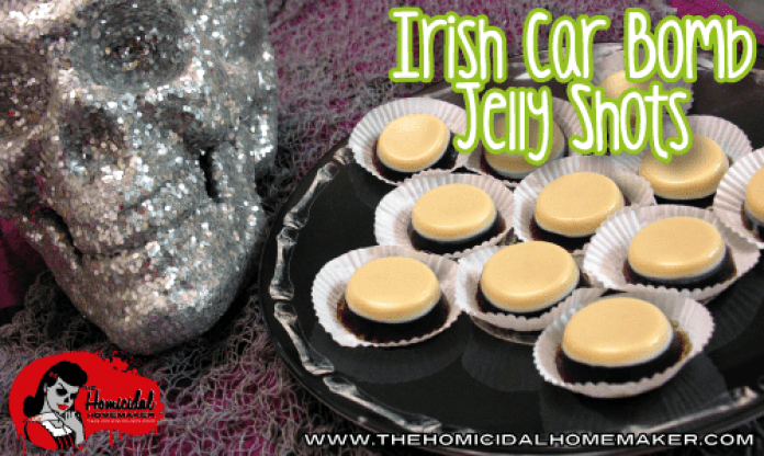 Grown-Up JELL-O: Chocolate Stout, Jameson and Irish Cream Jelly Shots
