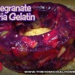Pomegranate Sangria Gelatin | The Homicidal Homemaker