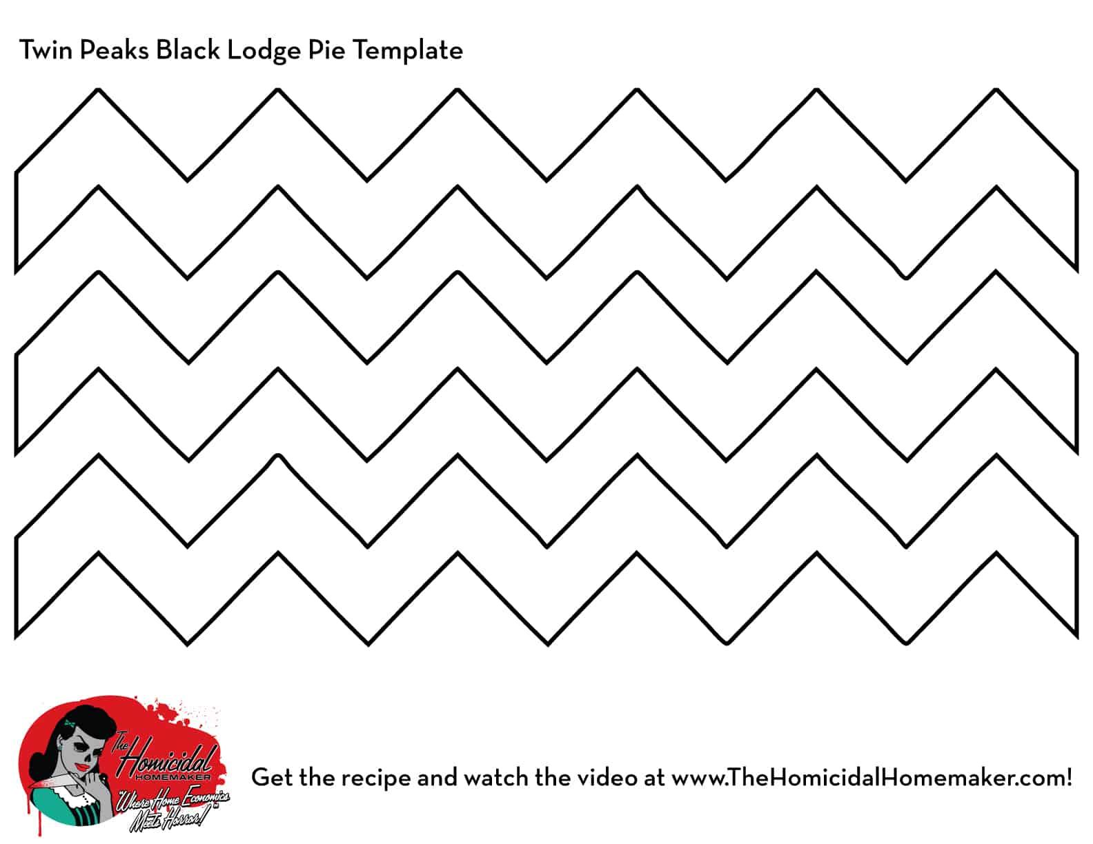 Twin Peaks Black Lodge Pie Template | The Homicidal Homemaker