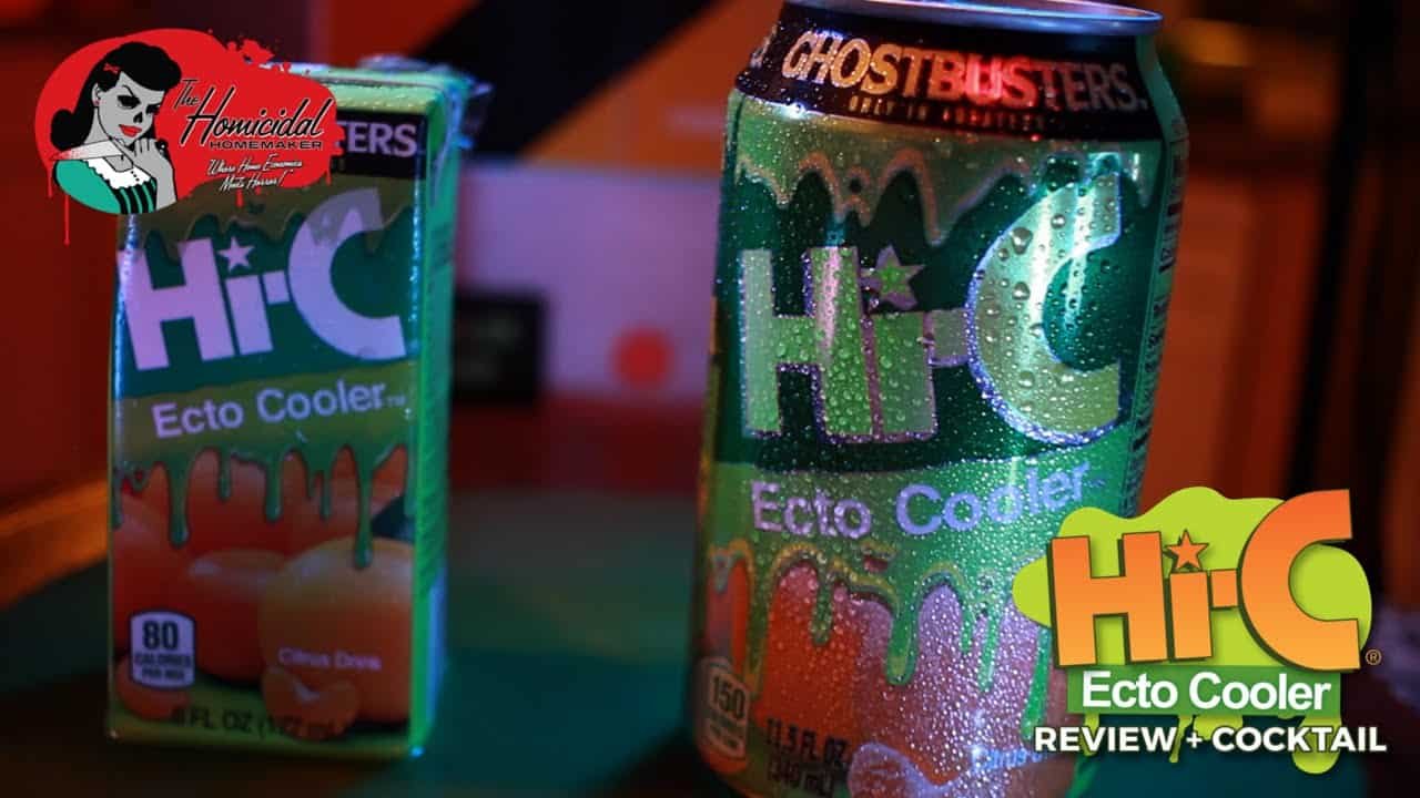 "Ghosbusters ""Ecto-1"" Cocktail with Ecto Cooler & Stay Puft Marshmallow Vodka"