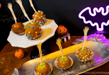 Perfect SCAREamel Apples with Nostalgia Electrics Caramel Apple Party!
