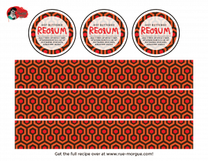 The Shining Hot Buttered Red Rum Labels