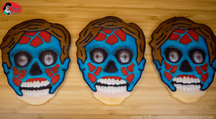 """They Live"" Sugar Cookies with Bubblegum Icing"