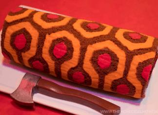 The Shining REDRUM Roll Cake