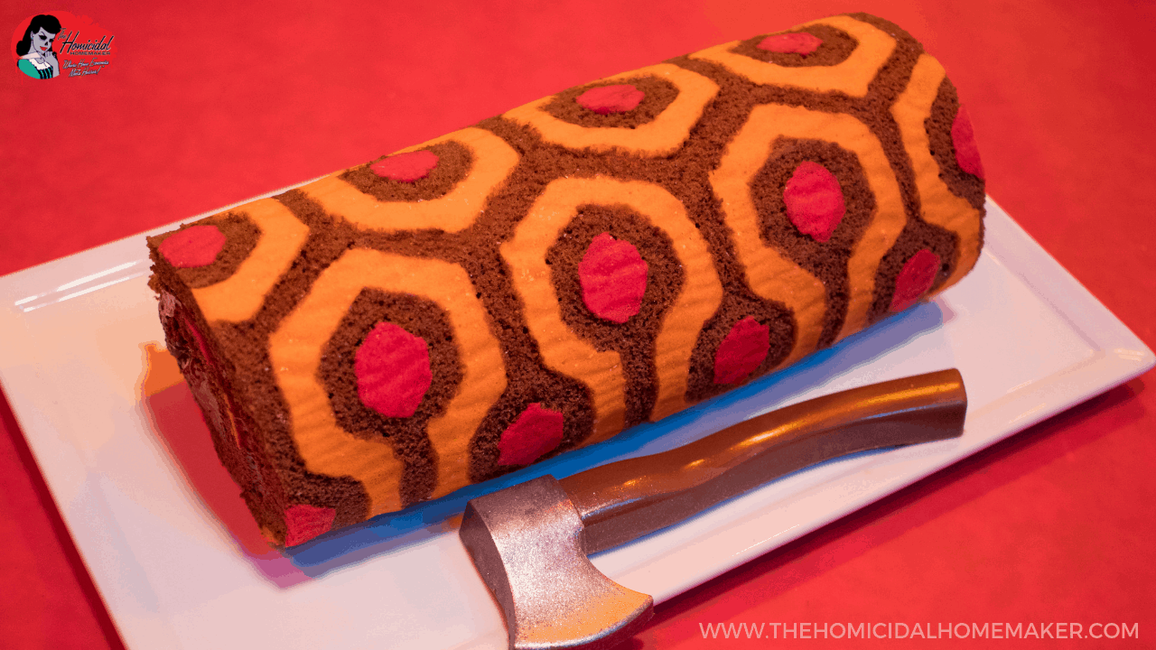 The Shining REDRUM Roll Cake