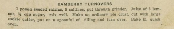 Bamberry Turnovers Recipe